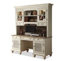 Coventry Credenza Hutch Weathered Driftwood/Dover White finish