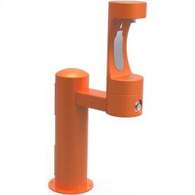 Elkay Outdoor EZH2O Bottle Filling Station Pedestal, Non-Filtered Non-Refrigerated Orange