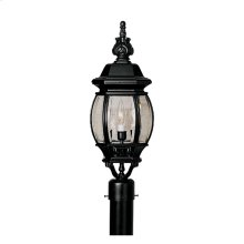 "7"" Post Lantern in Black"