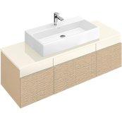 """Washbasin 39"""" (Ground) Angular - White Alpin"""