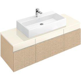 """Washbasin 39"""" (Ground) Angular - Matte White CeramicPlus"""