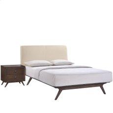 Tracy 2 Piece Queen Bedroom Set in Cappuccino Beige Product Image