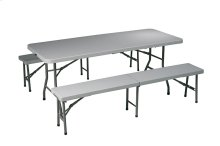 3 Piece Folding Table and Bench Set
