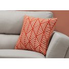 "PILLOW - 18""X 18"" / ORANGE GEOMETRIC DESIGN / 1PC Product Image"