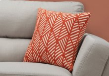 "PILLOW - 18""X 18"" / ORANGE GEOMETRIC DESIGN / 1PC"