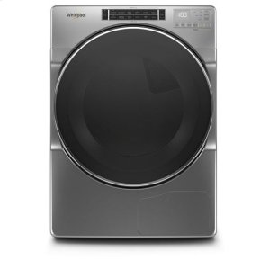 WhirlpoolWhirlpool® 7.4 cu.ft Closet Depth Front Load Heat Pump Dryer with Intiutitive Touch Controls, Steam Refresh Cycle - Chrome Shadow