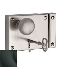 Satin Black 5704 Small Horizontal Rim Lock