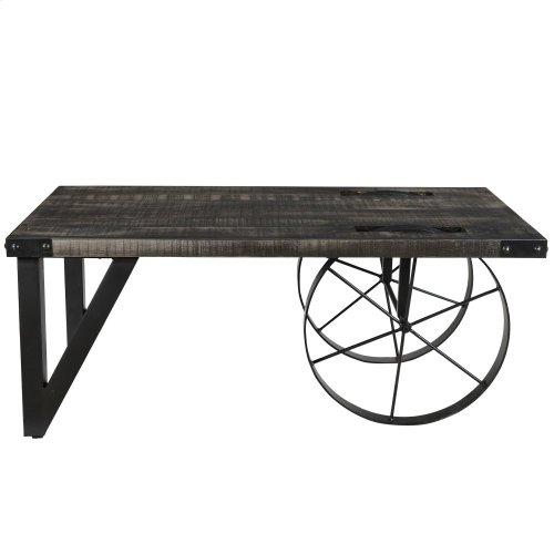 Zahir Coffee Table in Distressed Grey