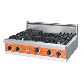 """Pumpkin 36"""" Sealed Burner Rangetop - VGRT (36"""" wide, four burners 12"""" wide char-grill)"""