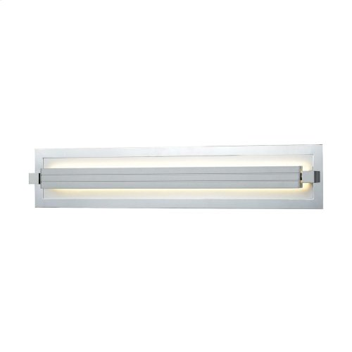 Kiara 1-Light Vanity Sconce in Frosted and Polished Nickel and Satin Aluminum - Integrated LED