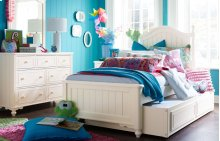 Summerset - Ivory Low Poster Bed, Twin 3/3