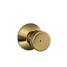 Bell Knob Bed & Bath Lock - Bright Brass