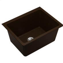 "Elkay Quartz Classic 25"" x 18-1/2"" x 11-13/16"", Undermount Laundry Sink with Perfect Drain, Mocha"