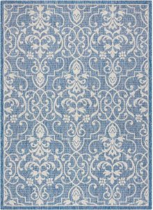 Country Side Ctr04 Denim Rectangle Rug 5'3'' X 7'3''