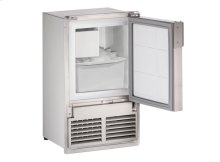 """Marine Series 14"""" Marine Crescent Ice Maker With Stainless Solid Finish and Field Reversible (flush To Cabinet) Door Swing"""