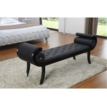 Modrest Monte Carlo Black Leatherette Bench