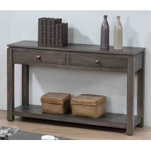 DLU-EL1604  Sofa Console with Drawers and Shelf  Gray