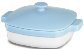 Ceramic 2.8-Quart Casserole Dish with Lid - Azure Blue