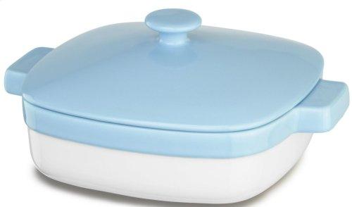 Ceramic 2.8-Quart Casserole Dish with Lid - Azure Blue