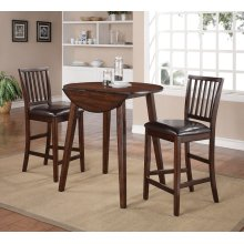 Mango Counter 3PC - Table With 2 Pub Chairs