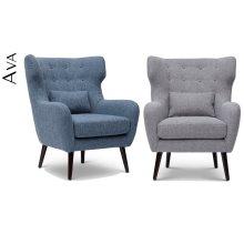 Ava Mid Century Modern Accent Chair - Blue