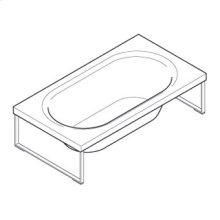 Bath tub made in methacrylate Kaos 1 free standing. 1850 x 1000 x h 510