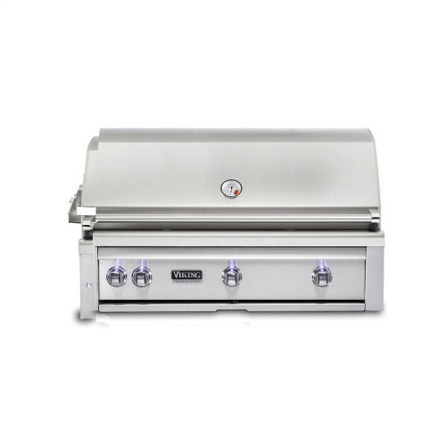 42 W. Built-in Grill with ProSear Burner and Rotisserie, Propane Gas