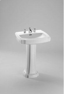 "Colonial White Guinevere® 27"" Pedestal Lavatory"