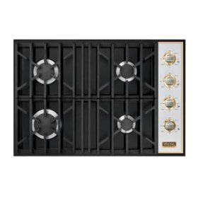 """30"""" Gas Cooktop, Natural Gas, Brass Accent"""