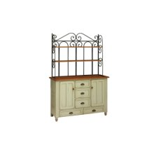Ironwood Buffet with Metal Bakers Rack Buffet