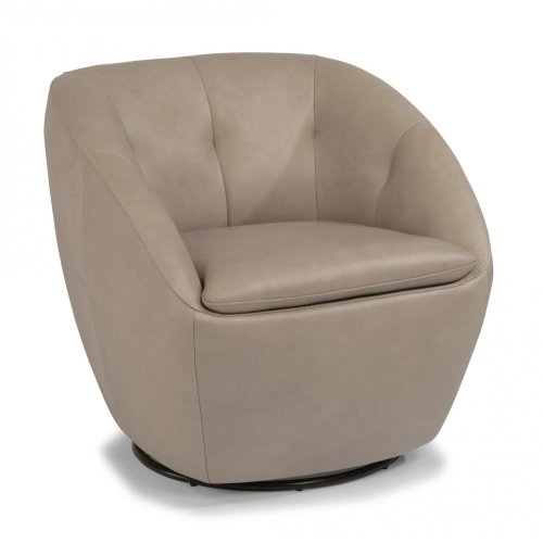 Wade Leather Swivel Chair
