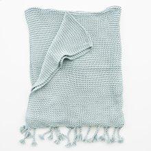 Comfy Knit Throw - Aged Blue