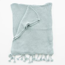 Comfy Knit Throw - Aged Blue