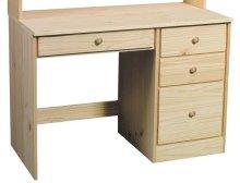 Unfinished Pine Single Pedestal Desk
