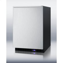 Frost-free Outdoor All-freezer With Digital Thermostat, LED Lighting, Black Cabinet, Stainless Steel Door and Horizontal Handle