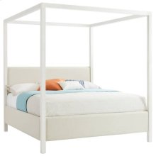 Panavista Archetype Canopy Bed - Queen in Alabaster