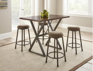 Omaha Counter Table 5 Piece Set