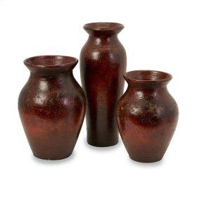 Malorie Terracotta Vases- Set of 3