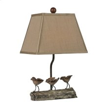 LITTLE BIRDS ON A LOG LAMP