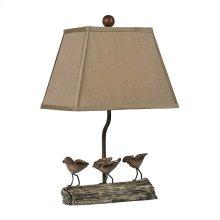 LITTLE BIRDS ON A LOG LAMP