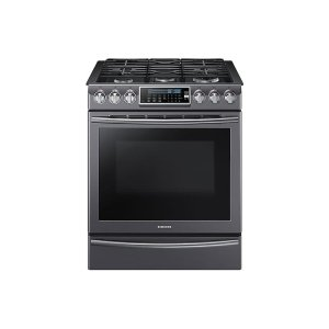 5.8 cu. ft. Slide-In Gas Range with True Convection - FINGERPRINT RESISTANT BLACK STAINLESS STEEL