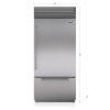 "Subzero 36"" Classic Over-And-Under Refrigerator/freezer With Internal Dispenser"