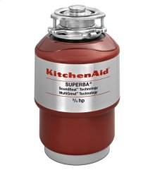 KitchenAid 3/4-Horsepower Continuous Feed Food Waste Disposer - Red