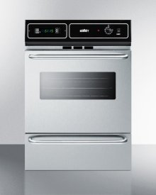 """Stainless Steel 220v Electric Wall Oven With Digital Clock/timer and Oven Window; for Cutouts 22 3/8"""" Wide By 34 1/8"""" High"""