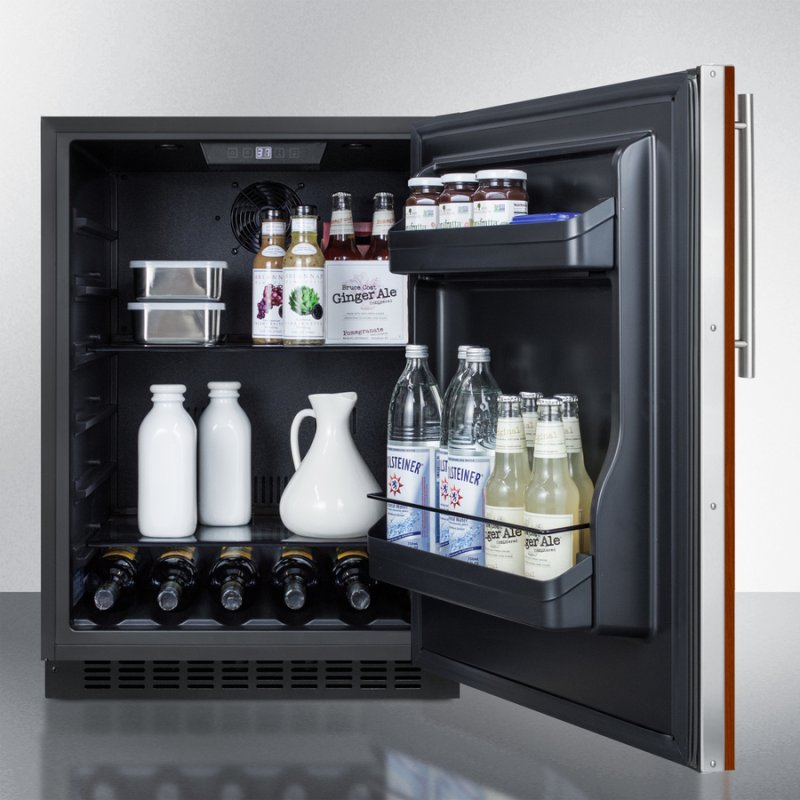 Built In Undercounter Ada Compliant All Refrigerator With Panel Ready Door Black