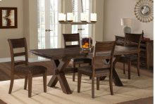 Park Avenue 5-piece Dining Set - Walnut (wirebrush)