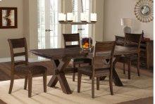 Park Avenue 5-piece Dining Set - Walnut (wirebrush)