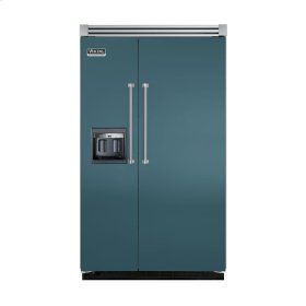 "Iridescent Blue 48"" Side-by-Side Refrigerator/Freezer with Dispenser - VISB (Integrated Installation)"