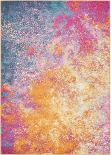 Passion Psn10 Sunburst Rectangle Rug 5'3'' X 7'3''