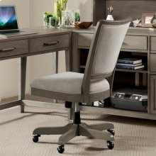 Vogue - Upholstered Desk Chair - Gray Wash Finish